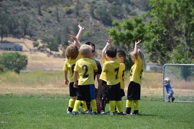 tým malých fotbalistů