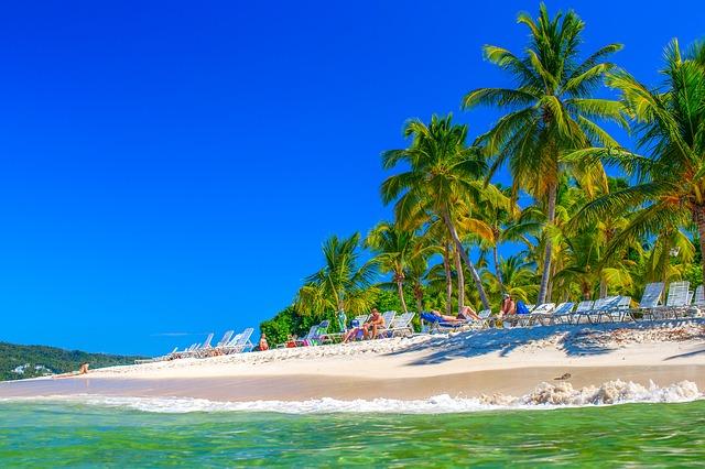 pláže v Dominikáně