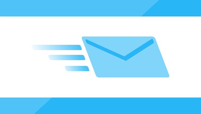 letící email