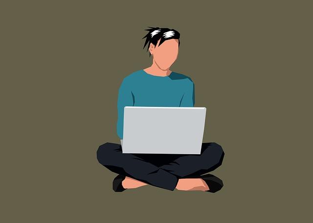 čtení z laptopu