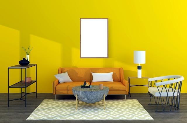 žlutá zeď