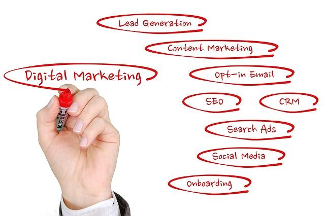 digitální marketing, červená fixa, poznámky